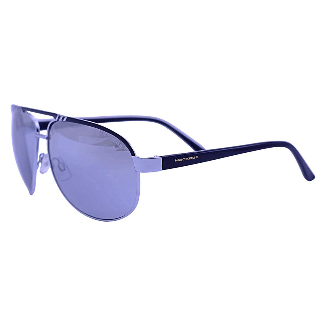 Óculos De Sol Mackage Unissex Metal Aviator - Prata/Preto