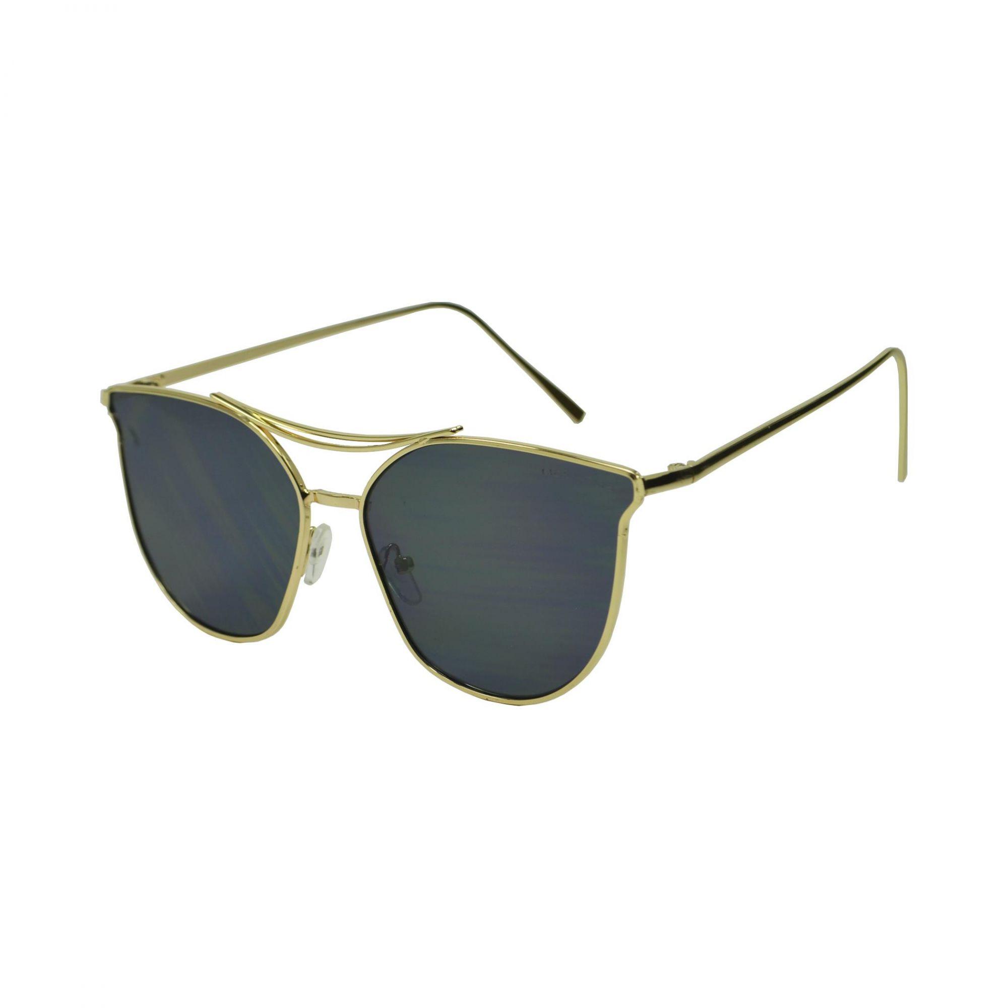Óculos De Sol Mackage Unissex Metal Gateado