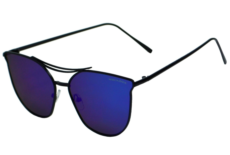 Óculos de Sol Mackage Unissex Metal Gateado - Azul