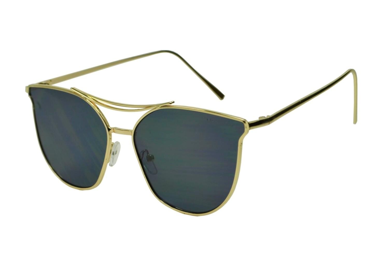 Óculos de Sol Mackage Unissex Metal Gateado - Dourado