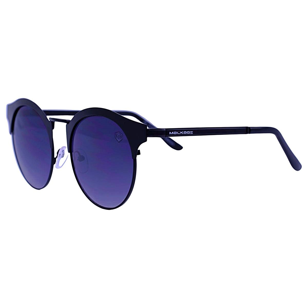 Óculos de Sol Mackage Unissex Metal Gateado Round - Preto