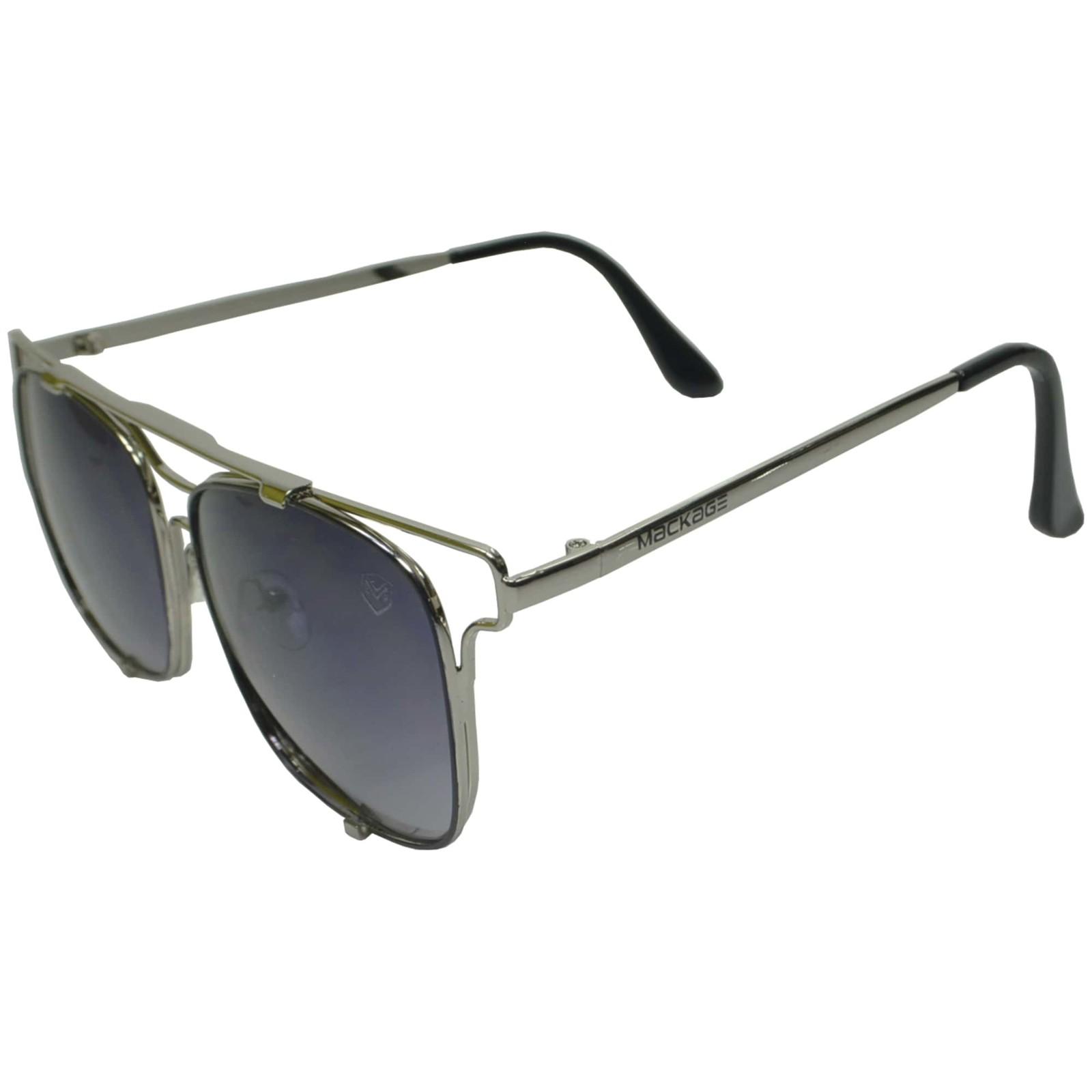 Óculos De Sol Mackage Unissex Metal Geometrico - Prata