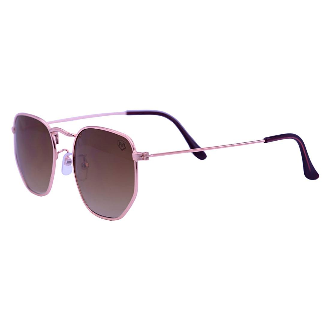 Óculos de Sol Mackage Unissex Metal Hexa - Dourado