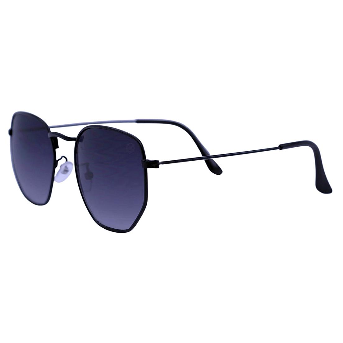 Óculos De Sol Mackage Unissex Metal Hexa - Preto