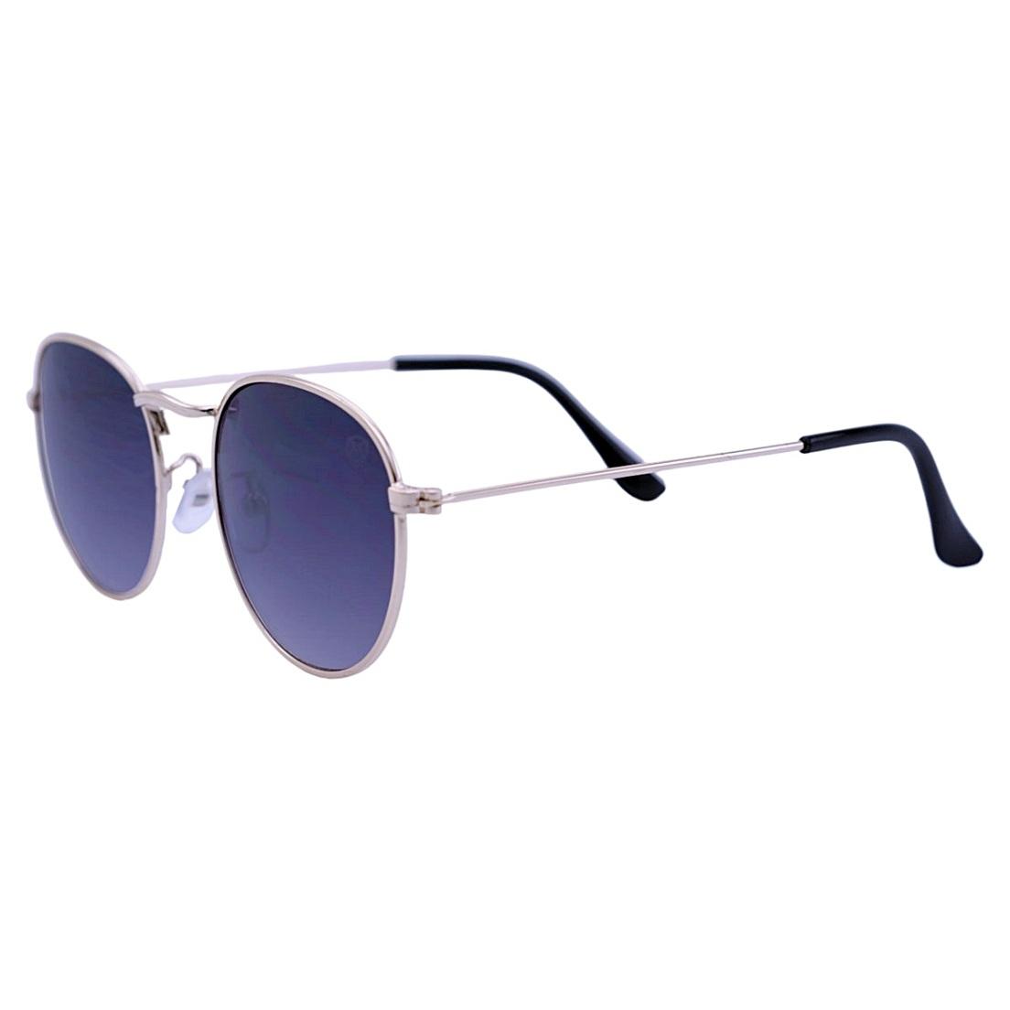Óculos De Sol Mackage Unissex Metal Oval - Dourado