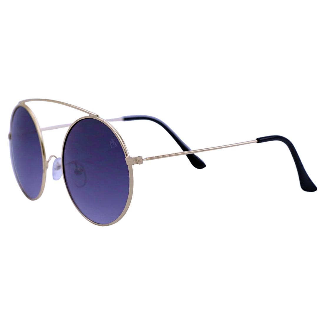 Óculos De Sol Mackage Unissex Metal Redondo - Dourado