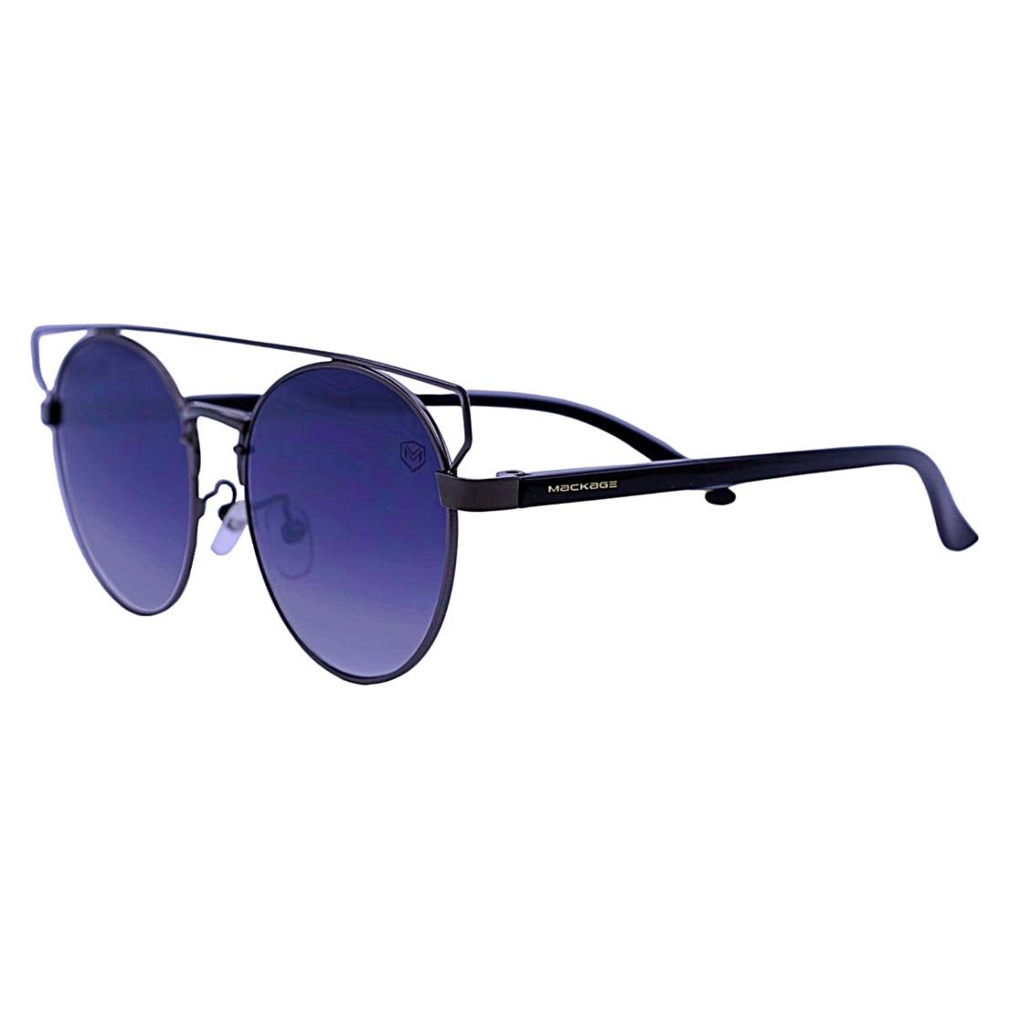 Óculos De Sol Mackage Unissex Metal Redondo - Preto