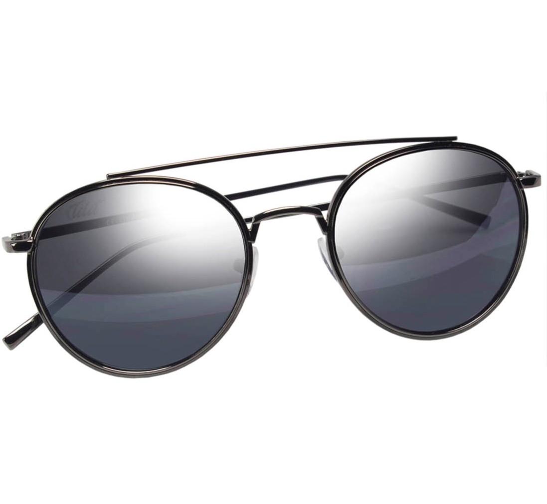 Óculos de Sol Mackage Unissex Metal Round - Grafite