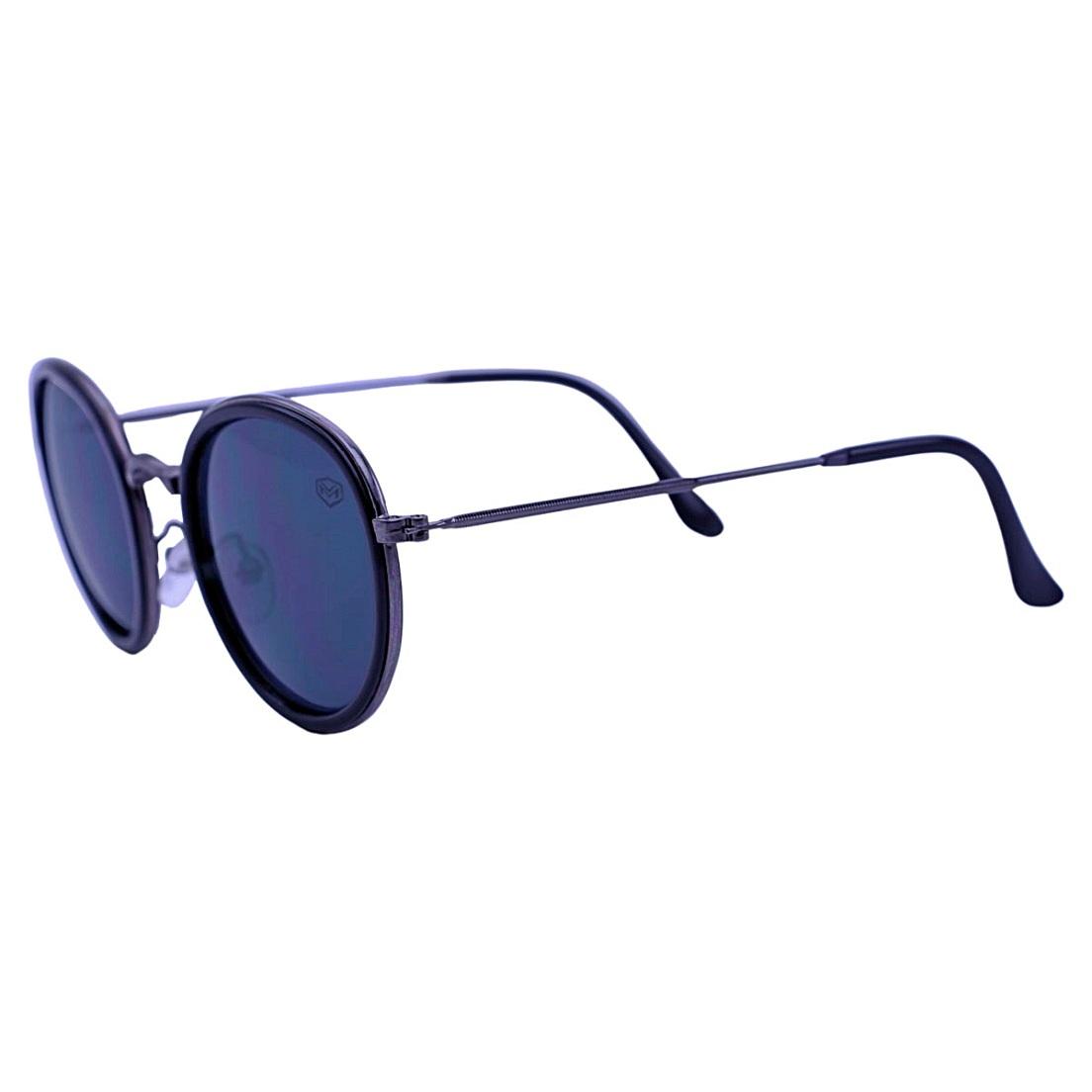 Óculos De Sol Mackage Unissex Metal Round - Preto