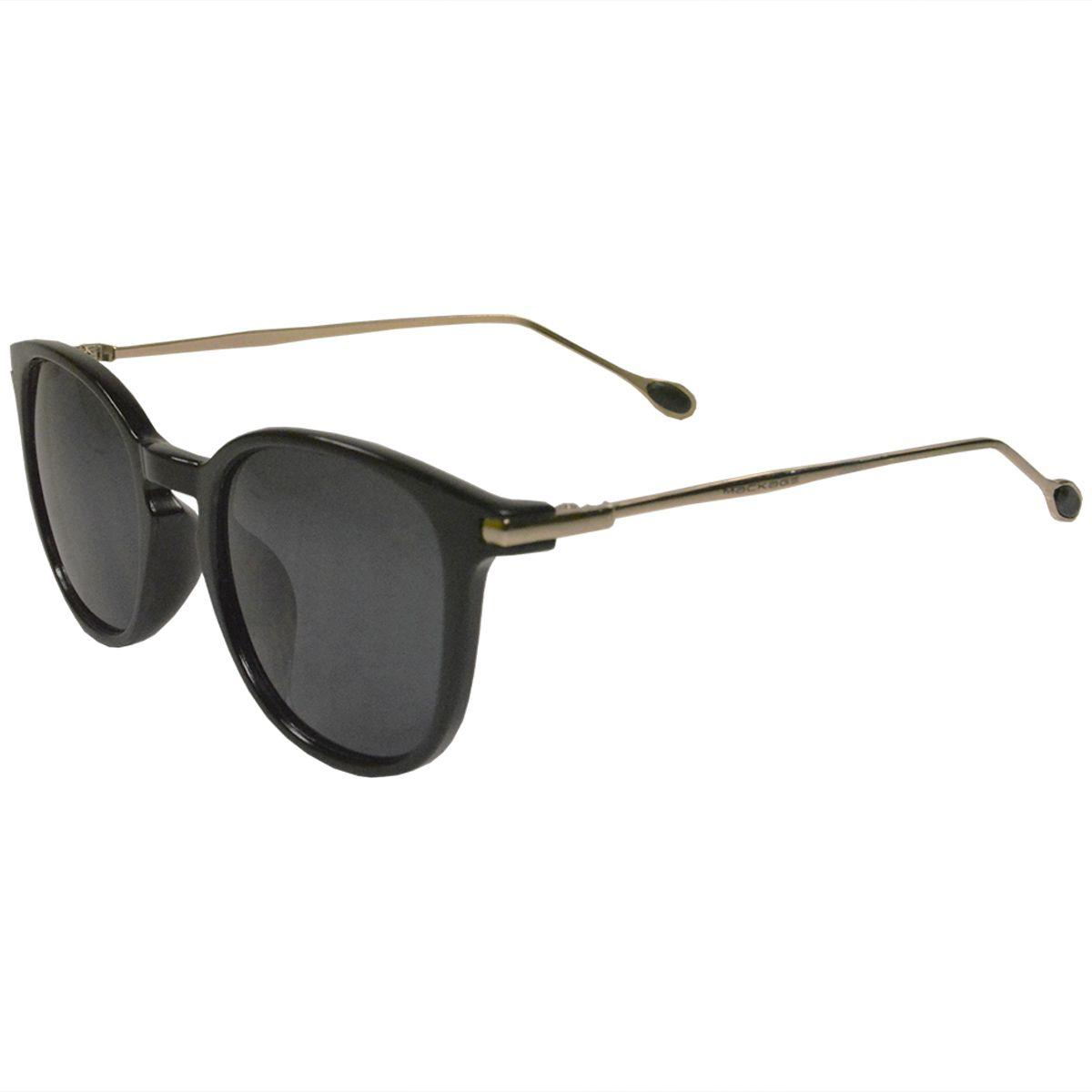 Óculos De Sol Mackage Unissex Acetato/Hastes Em Metal Retangular - Preto