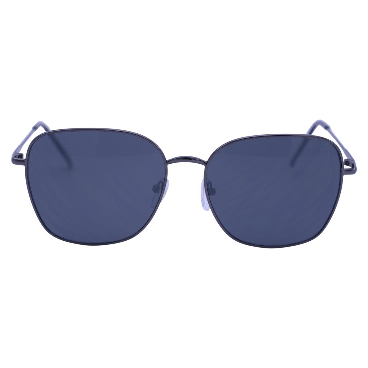 Óculos De Sol Mackage Unissex Quadrado Metal - Grafite