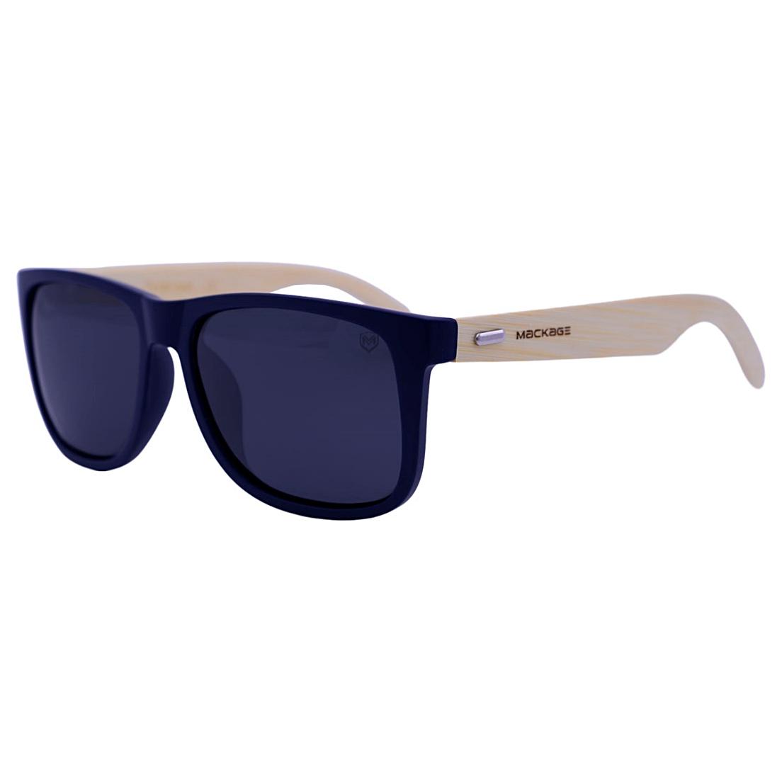 Óculos De Sol Mackage Unissex Wayfarer Madeira Polarizado - Azul