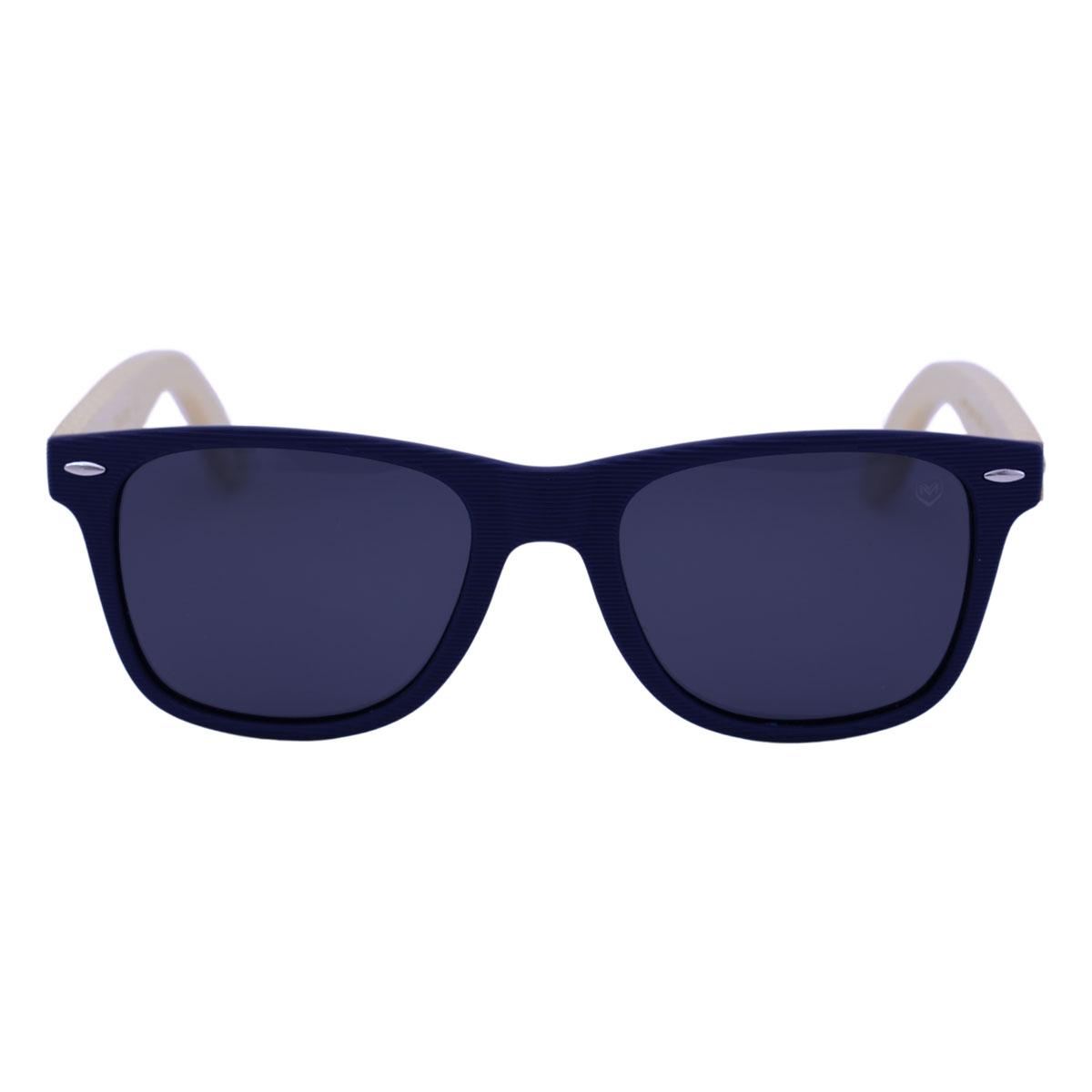 Óculos De Sol Mackage Unissex Wayfarer Madeira Polarizado - Azul Marinho