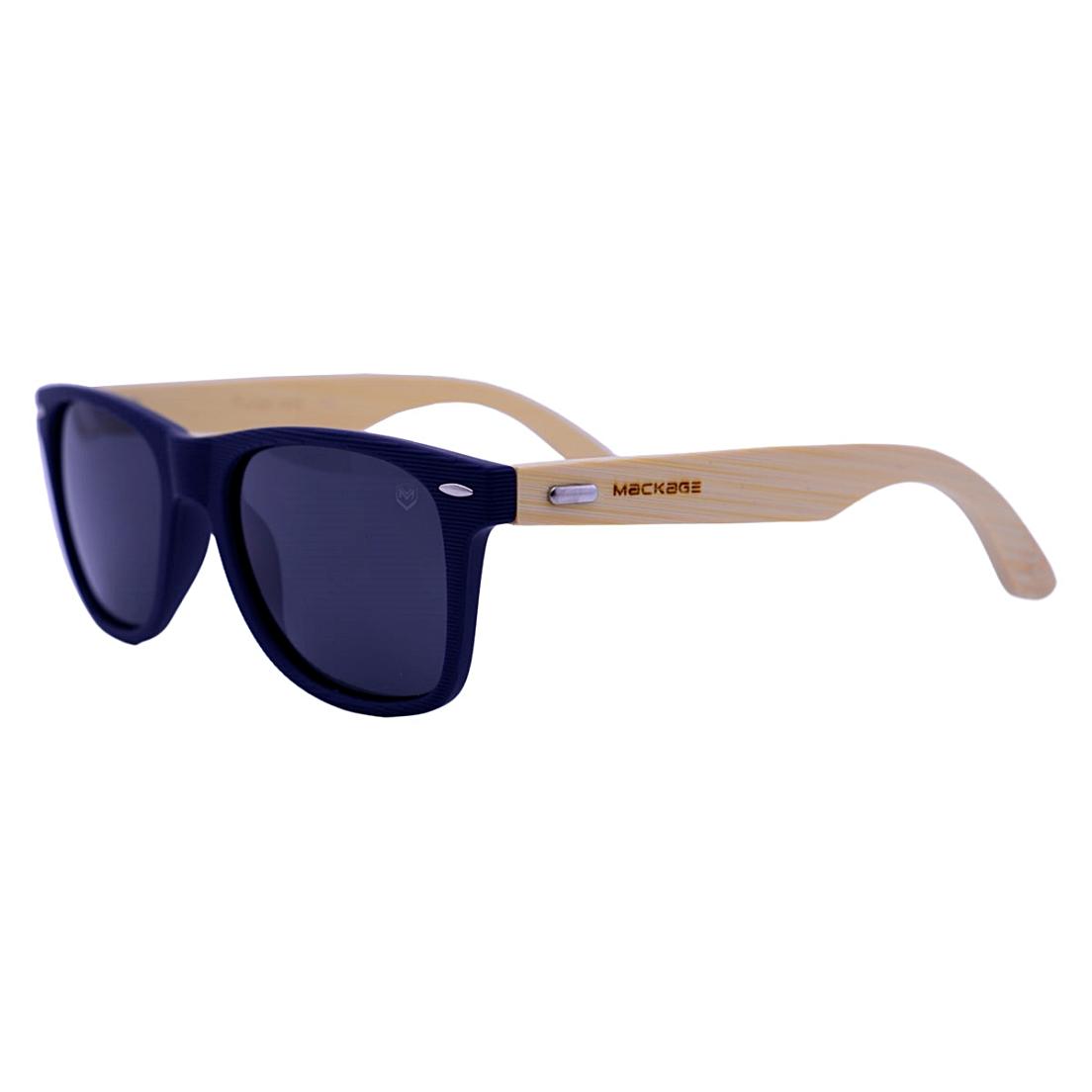 Óculos De Sol Mackage Unissex Wayfarer Madeira Polarizado - Preto