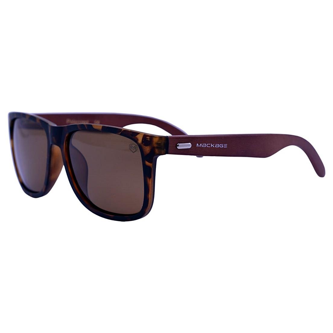 Óculos De Sol Mackage Unissex Wayfarer Madeira Polarizado - Tartaruga
