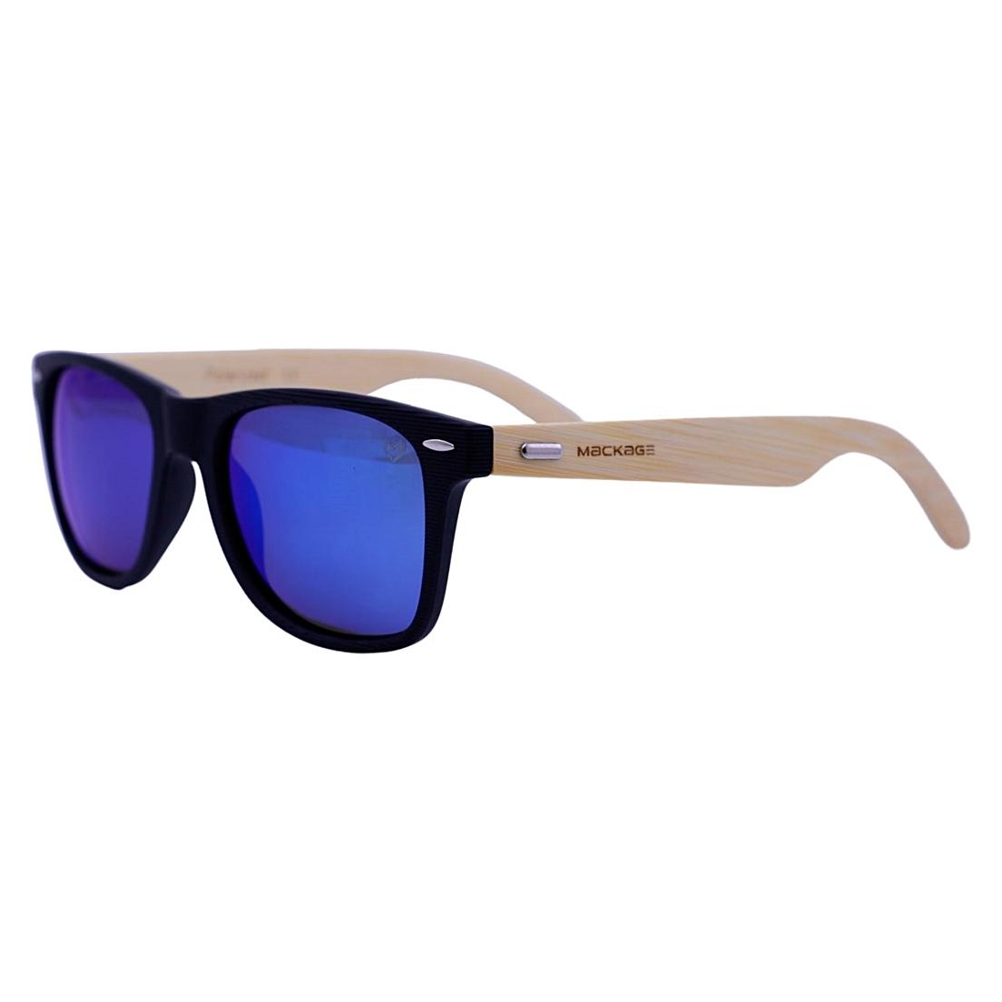 Óculos De Sol Mackage Unissex Wayfarer Madeira Polarizado - Preto/Azul