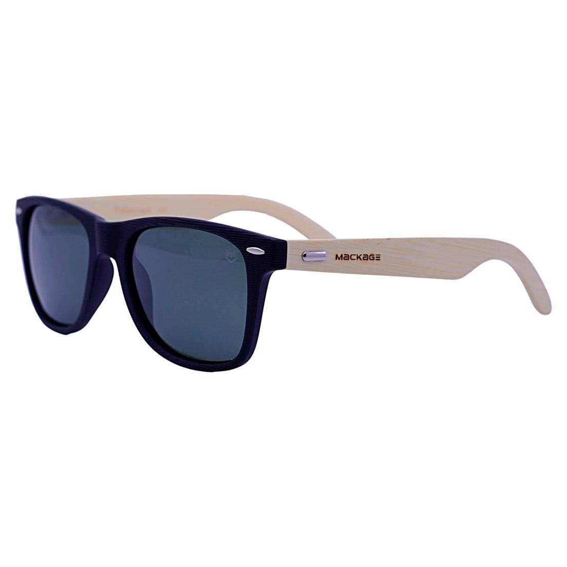 Óculos De Sol Mackage Unissex Wayfarer Madeira Polarizado - Preto/Verde