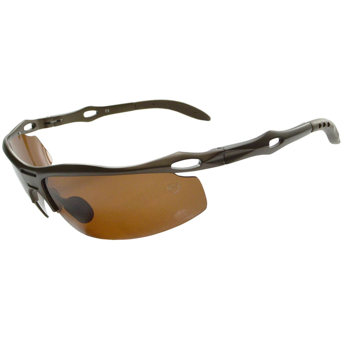 Óculos De Sol Mackage Masculino Aluminio Polarizado Retangular Esportivo - Marrom