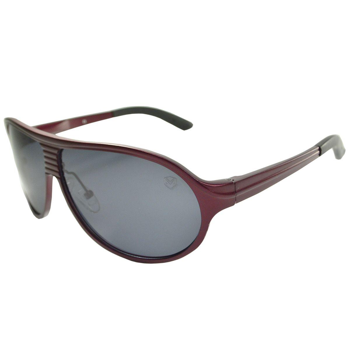 Óculos De Sol Mackage Masculino Alumínio Aviador - Vinho