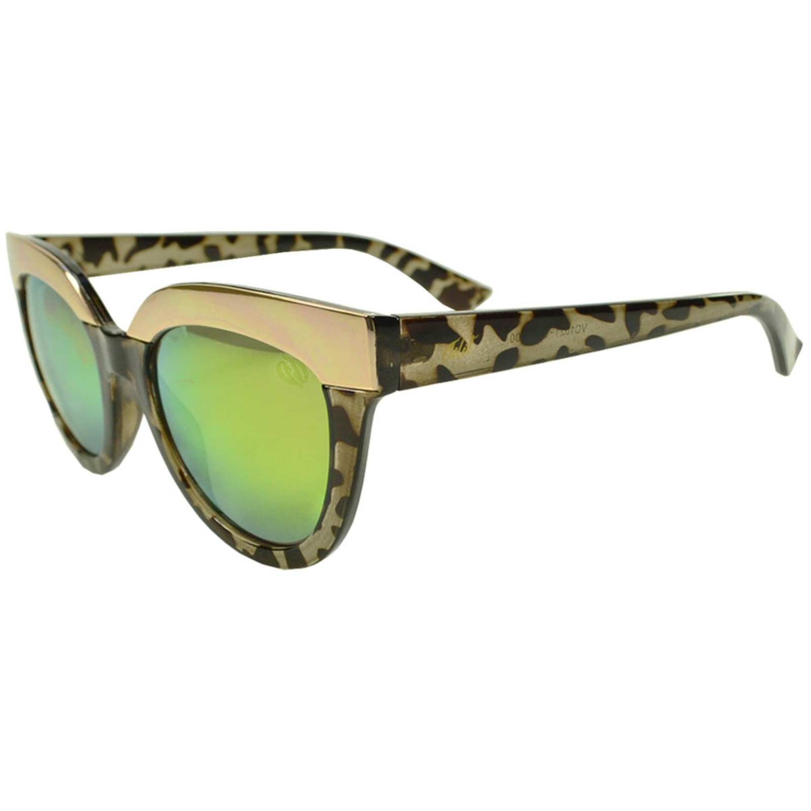 Óculos de Sol Tilit Feminino Acetato Gateado Retrô - Tarta Escuro