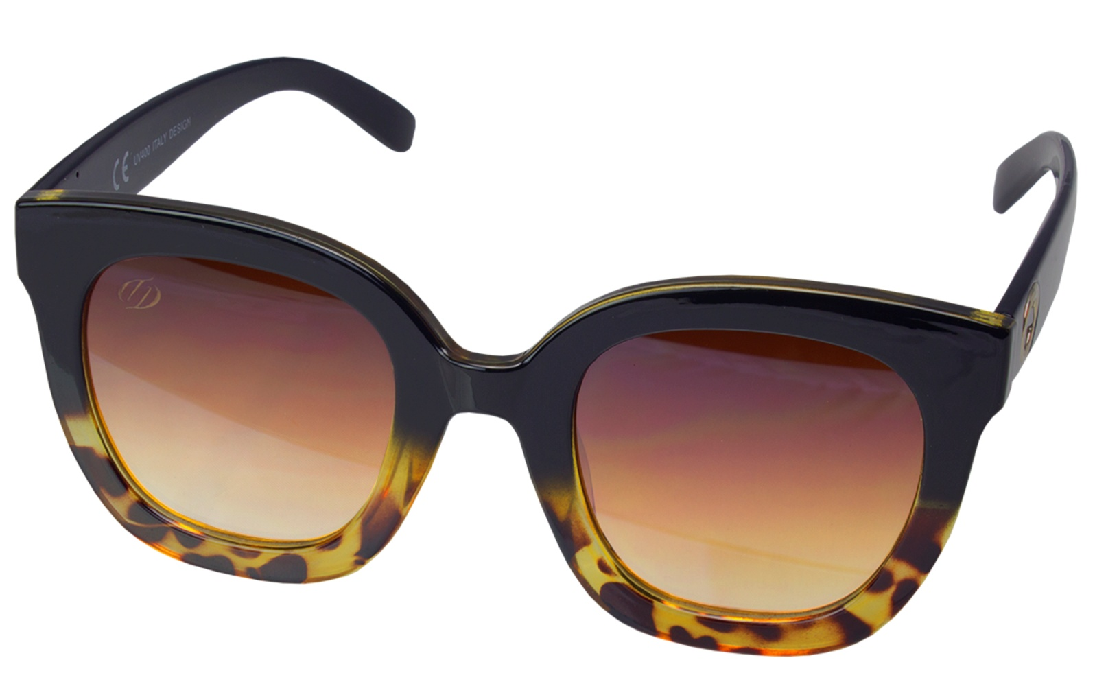 Óculos De Sol Tilit Feminino Acetato Oversize - Preto Tarta