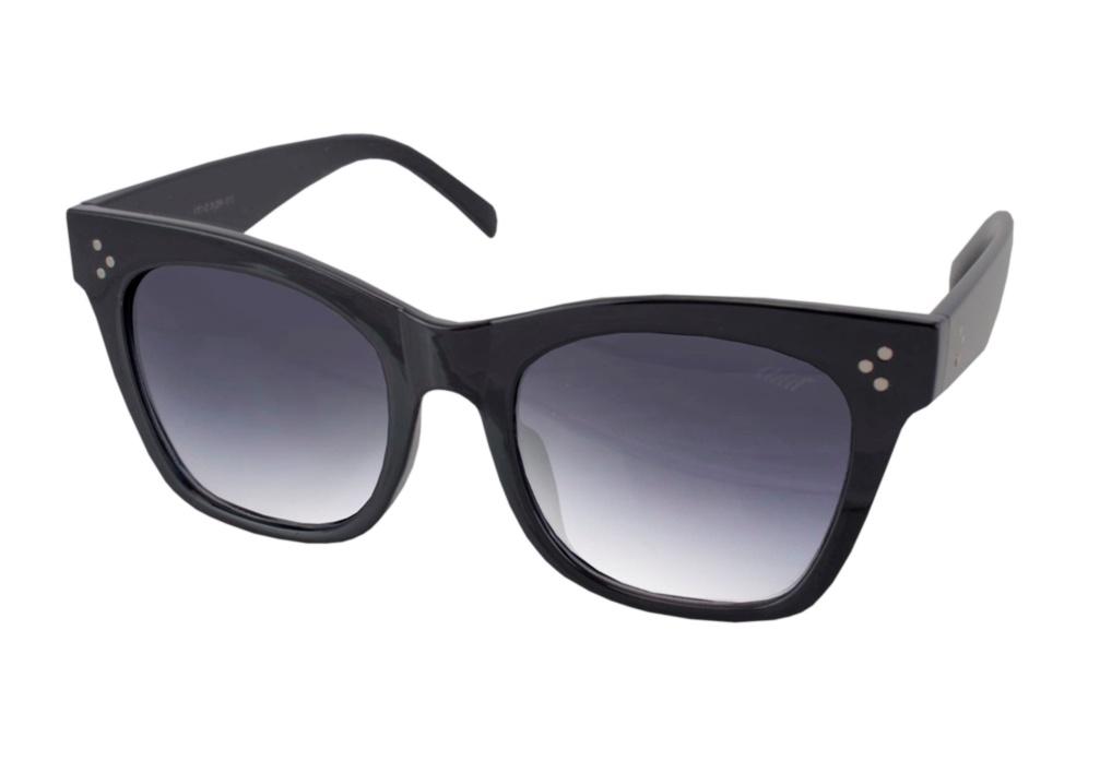 Óculos De Sol Tilit Feminino Acetato Oversize Retrô - Preto