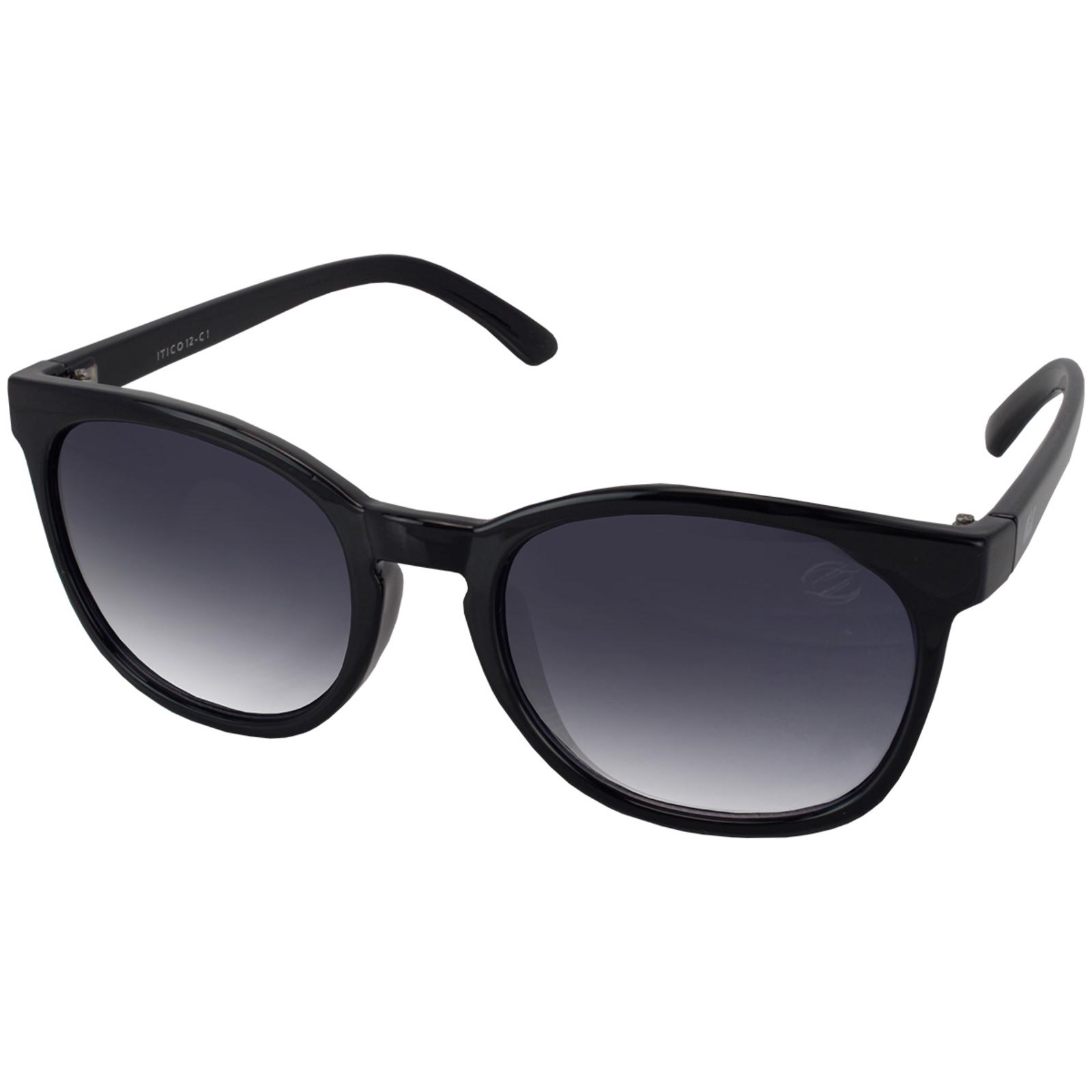 Óculos De Sol Tilit Feminino Acetato Redondo Retrô - Preto
