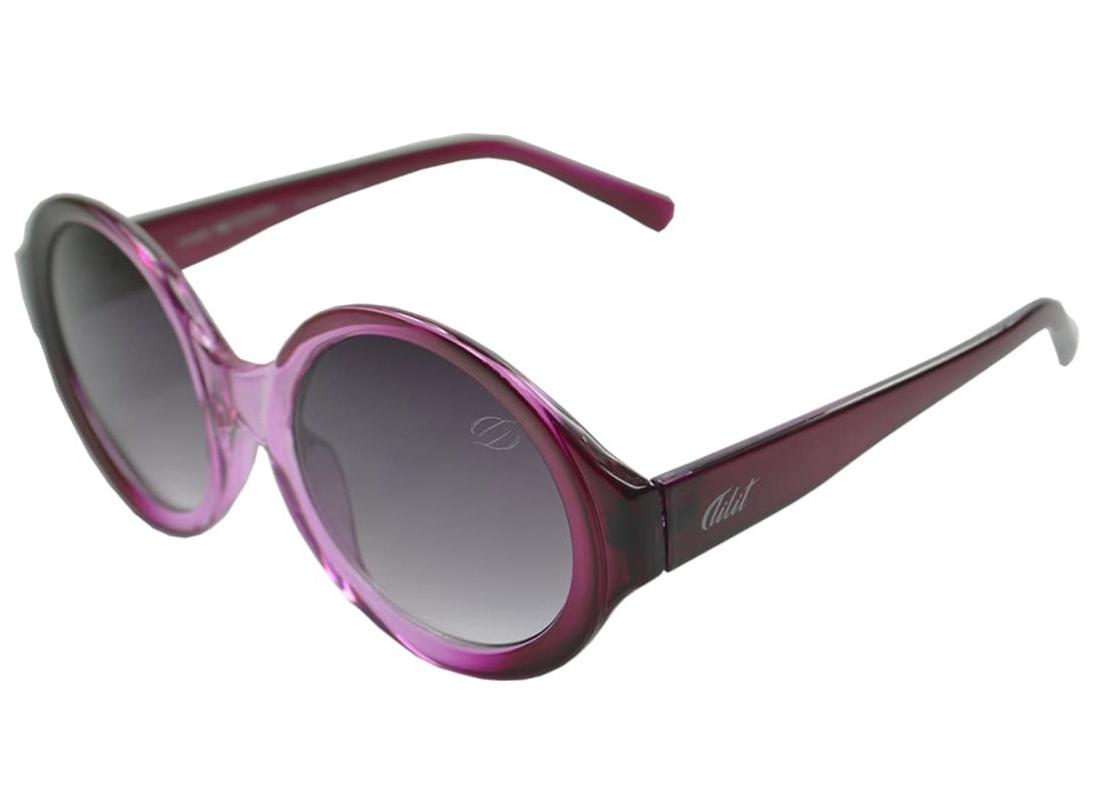 Óculos De Sol Tilit  Feminino Acetato Retrô Redondo - Roxo