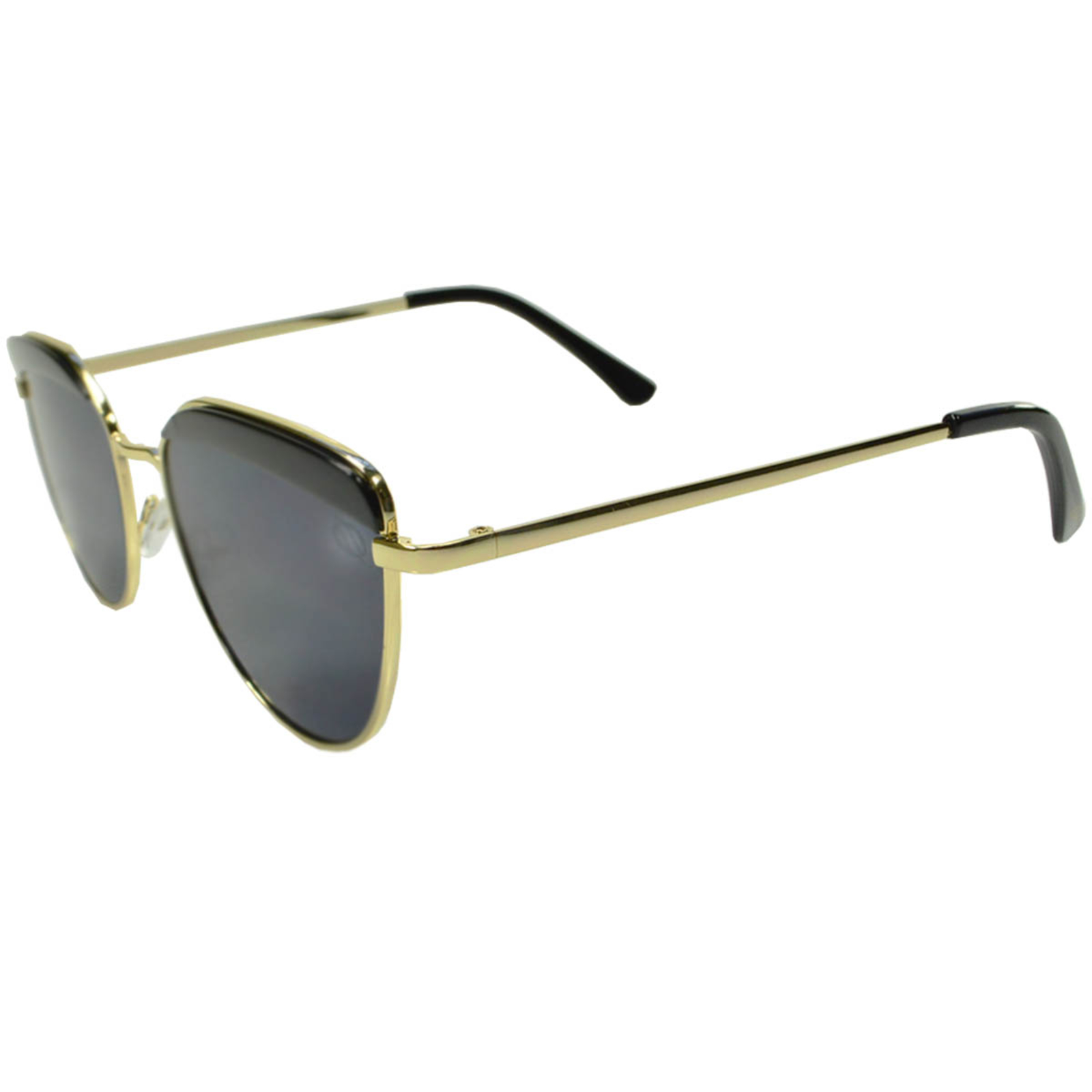 Óculos De Sol Tilit Feminino Metal Gateado - Dourado/Preto