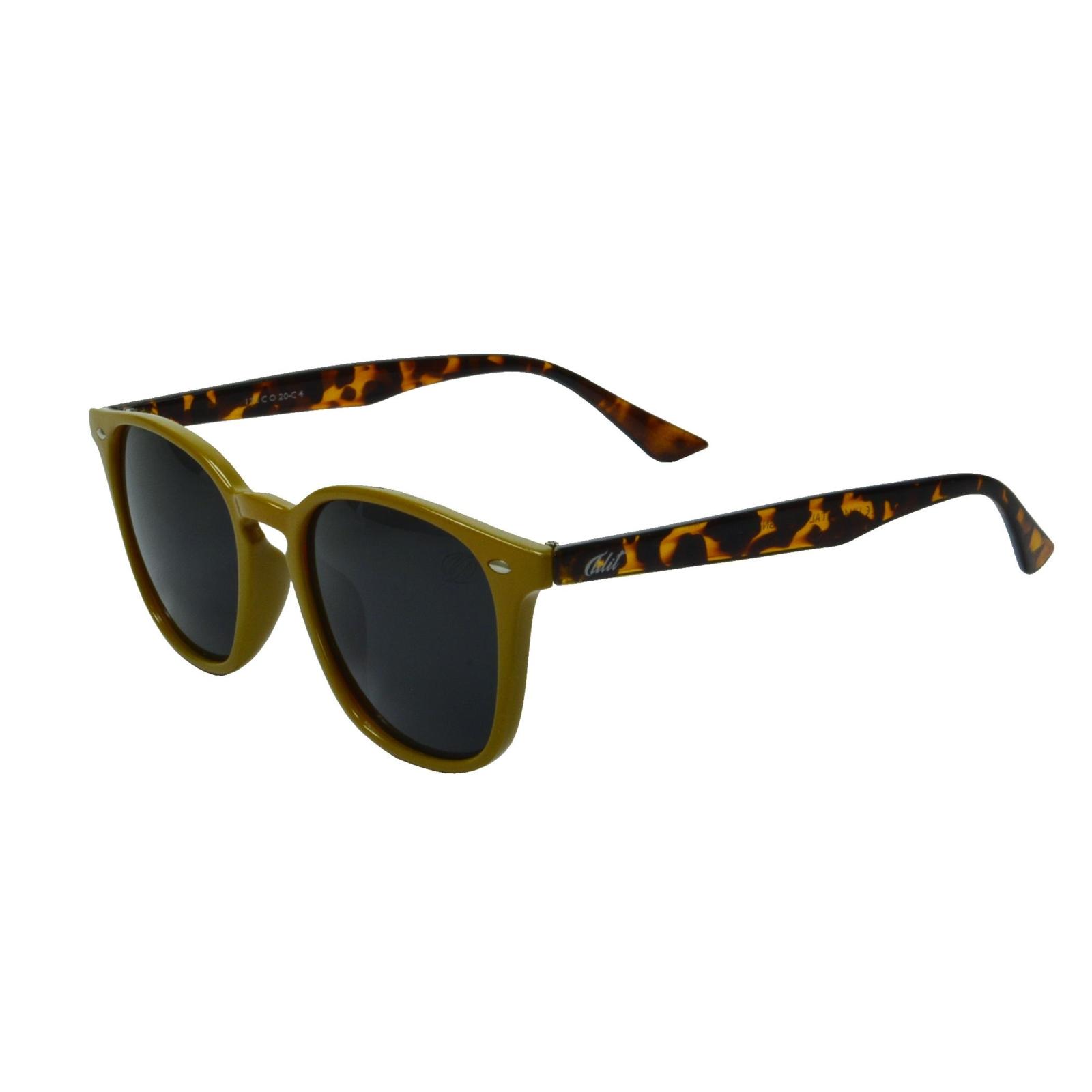Óculos De Sol Tilit Unisex Acetato Quadrado Wayfarer - Mostarda/Tarta