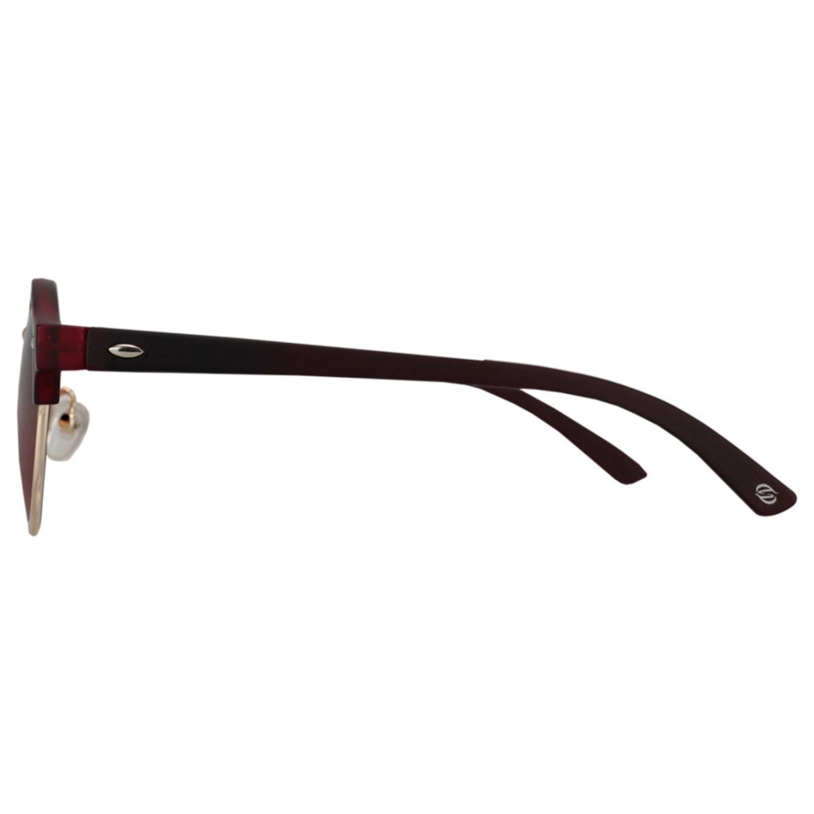 Óculos De Sol Tilit Unissex Acetato Redondo Clubmaster - Marrom