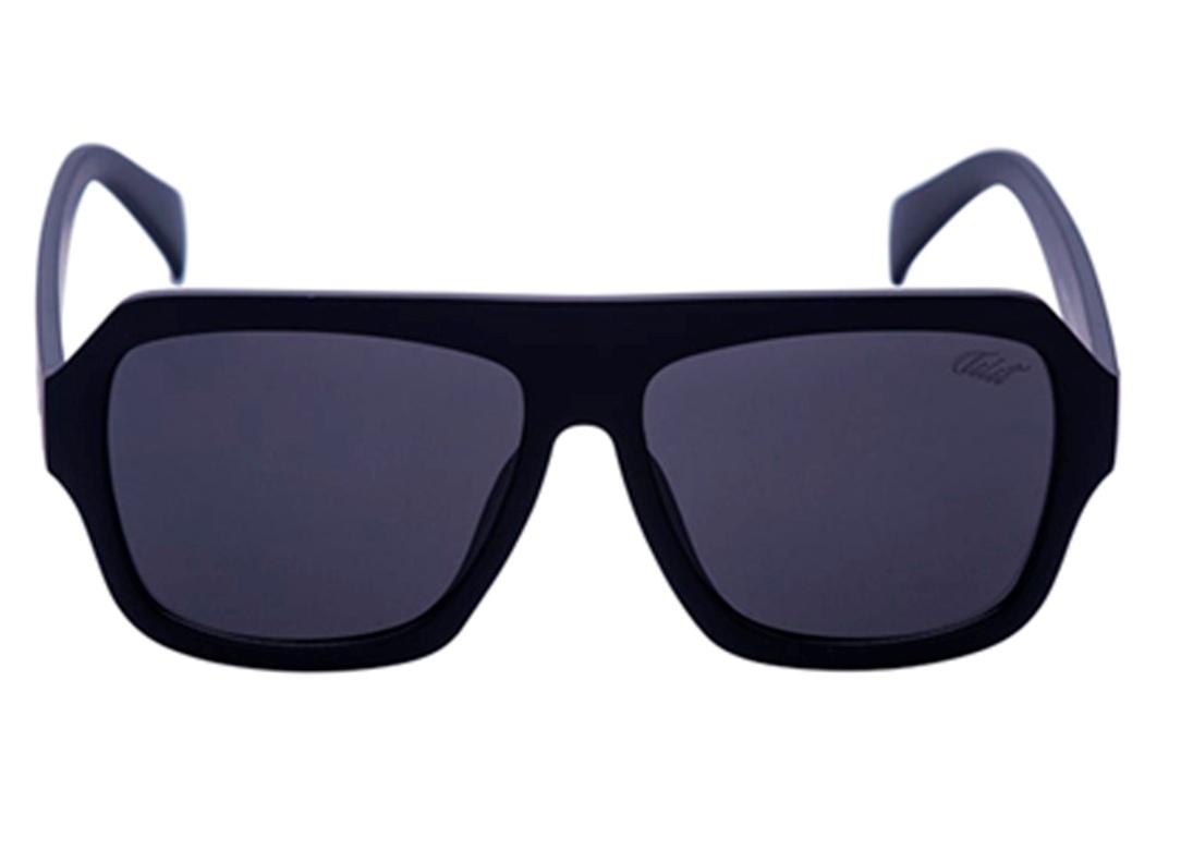 Óculos De Sol Tilit Unissex Acetato Retangular - Preto Fosco