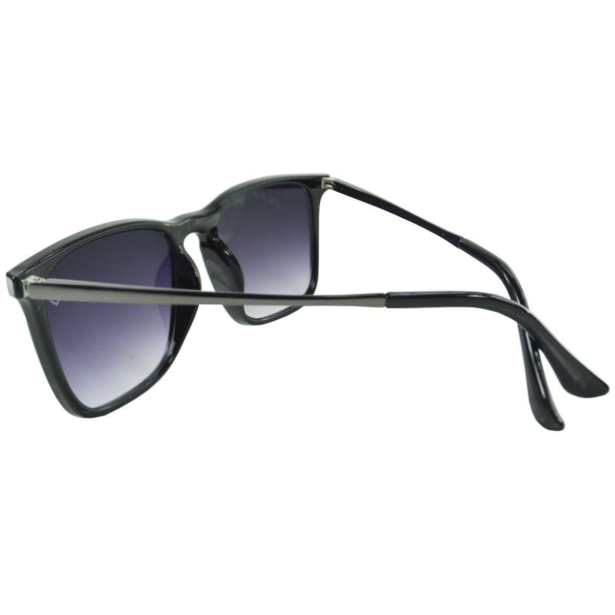 Óculos De Sol Mackage Unissex Acetato Retangular Flat - Preto