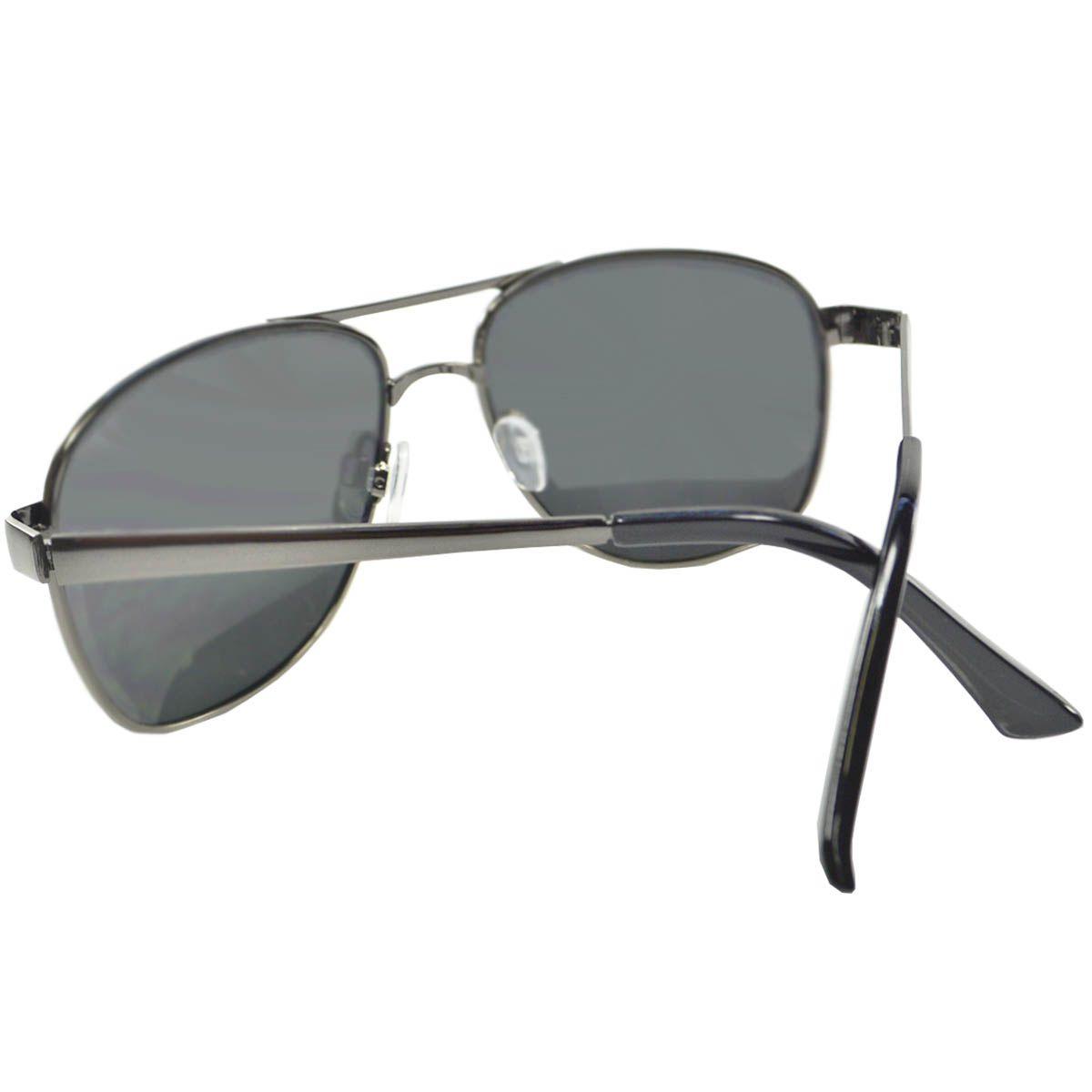 Óculos de Sol Mackage Masculino Metal Aviador - Grafite