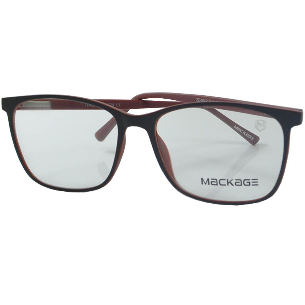 41f0c697449db Óculos Mackage - Armação MKA4042C4 Preto Vermelho
