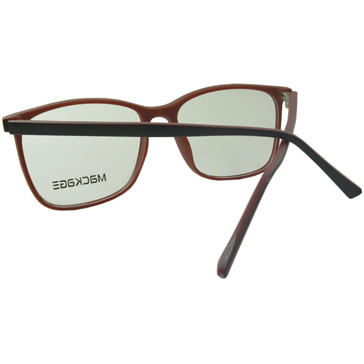 Óculos Mackage - Armação MKA4042C4 Preto Vermelho