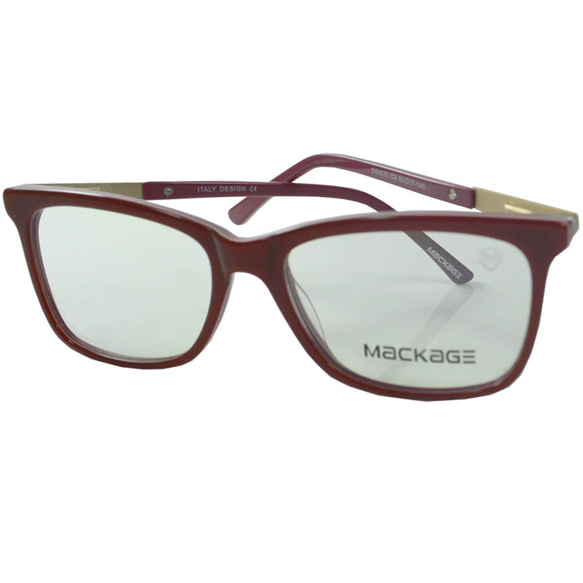 Armação para Óculos de Grau Mackage MKA6575C3 Vermelho