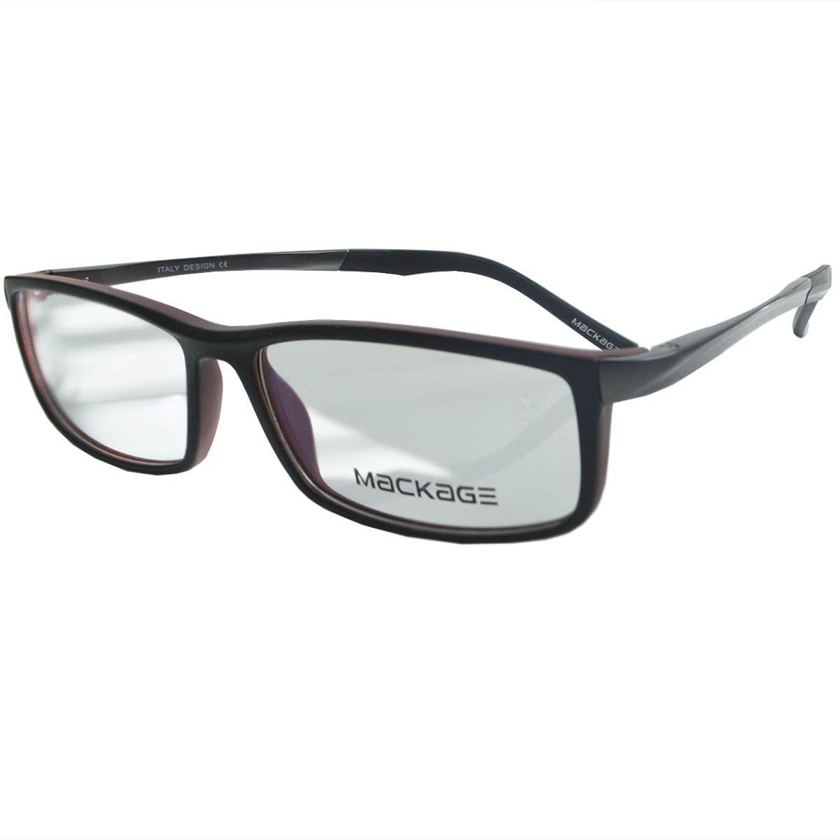 Óculos Mackage - Armação MKA9049C2 Preto Vermelho