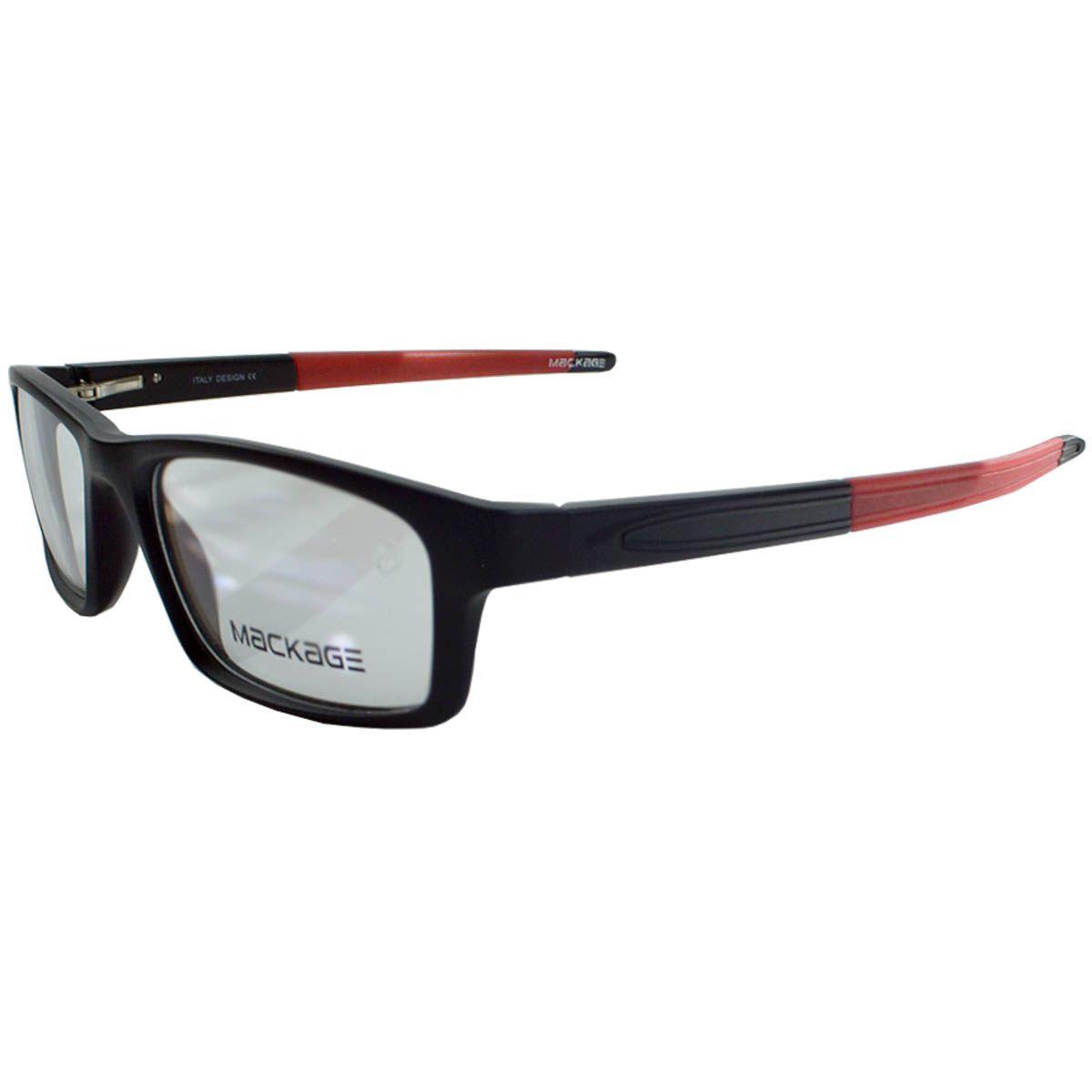 Óculos Mackage - Armação MKA9064C4 Preto Vermelho