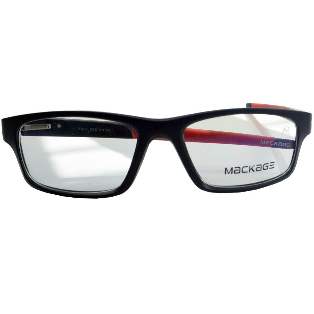 331ba825239a4 Óculos Mackage - Armação MKA9064C4 Preto Vermelho