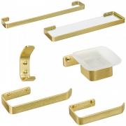 Kit de Acessórios para Banheiro Miró Dourado