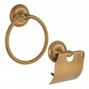 Kit de Acessórios para Lavabo Top Goya Dourado