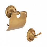 Kit de Acessórios Retrô para Lavabo Goya Dourado