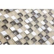 Pastilha de Vidro com Pedras Naturais e Metais TSCR 267