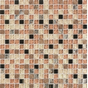 Pastilha de Vidro com Pedras Naturais e Metais TSCR 273
