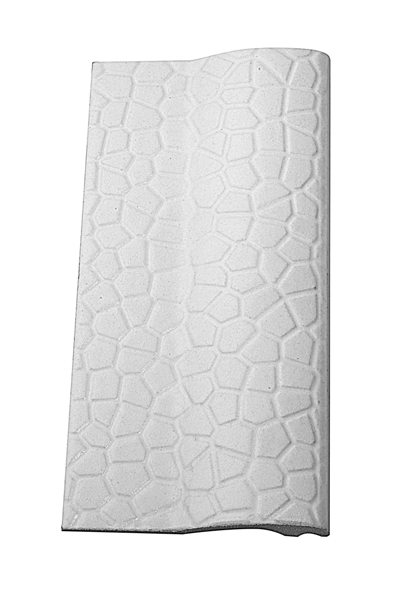 Borda de Piscina 12x25 Mosaico Branca