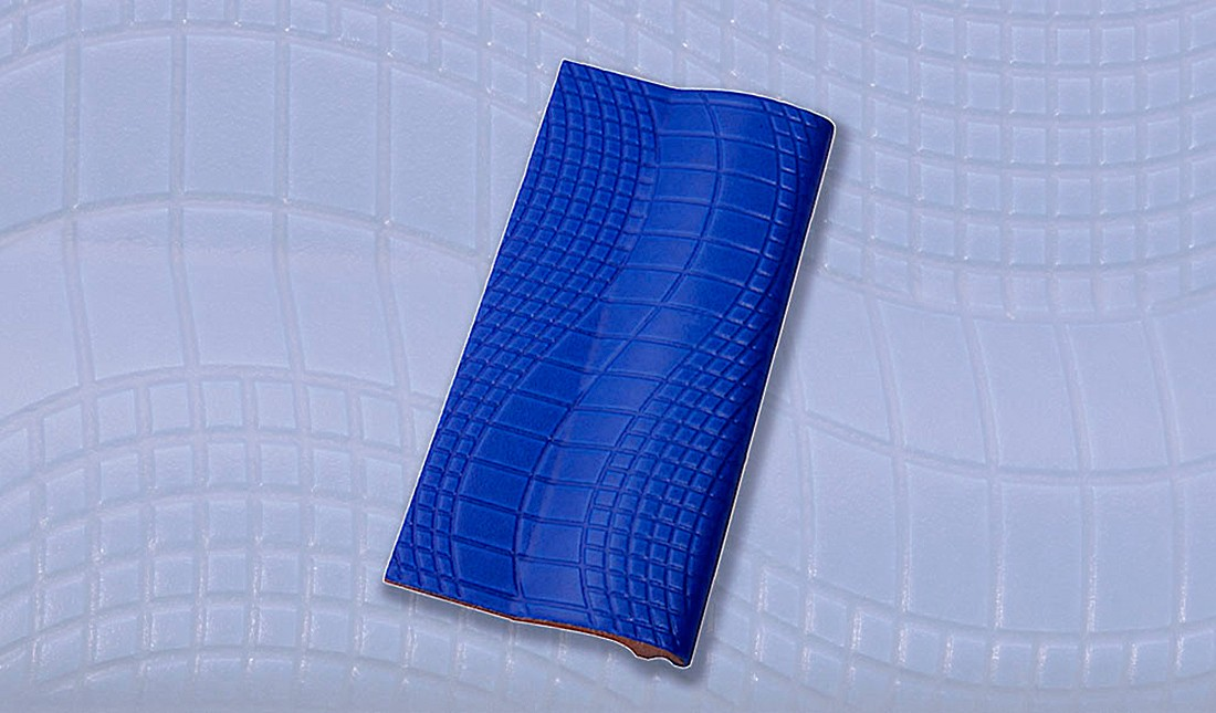 Borda de Piscina 12x25 Pastilhado Azul Royal