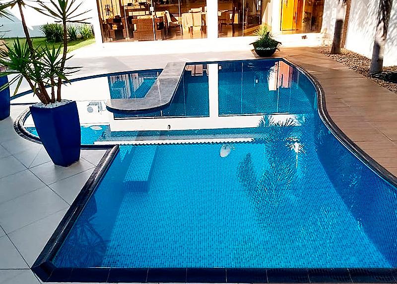 Borda de Piscina 12x25 Sithal Azul Royal