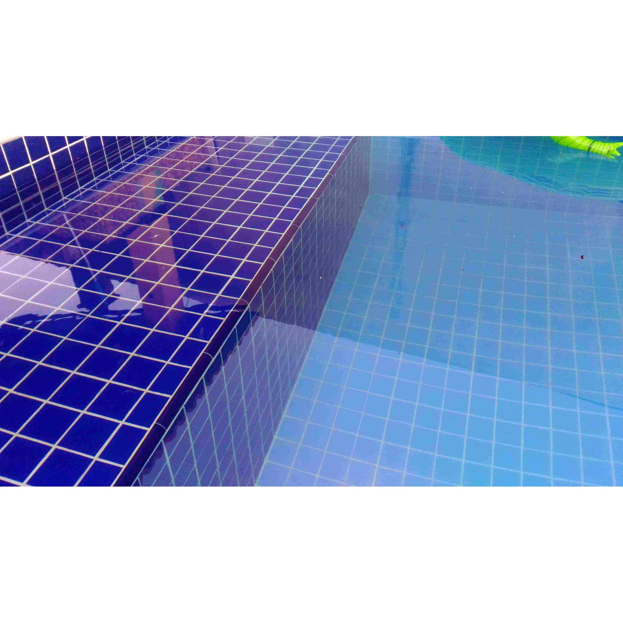 Cantoneira Côncava para Piscina 3,5x25 Azul Brilhante