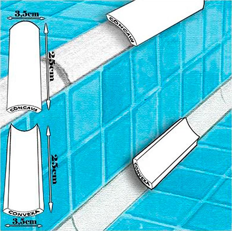 Cantoneira Convexa para Piscina 3,5x25 - 3 Cores